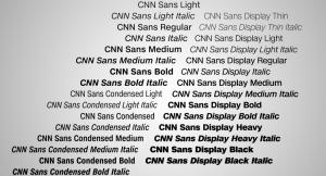 CNN Sans typeface