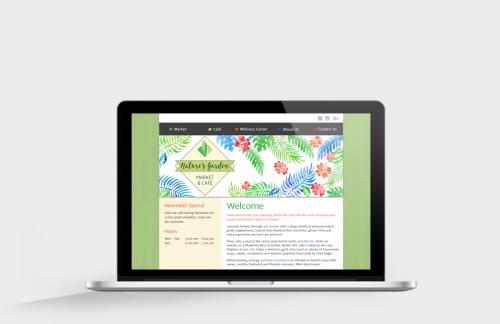 Nature's Garden website on MacBook Pro