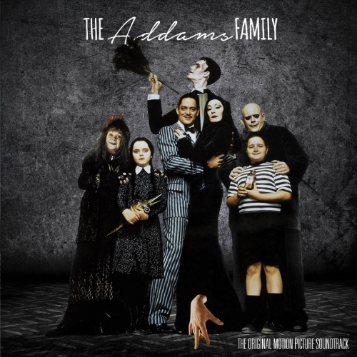 Vinyl album cover for The Addams Family Motion Picture Soundtrack, front