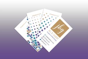 Business card layout for Jill B Gilbert, graphic & web designer
