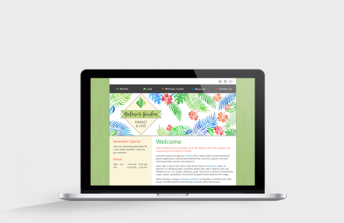 MacBook Pro view of Nature's Garden responsive website