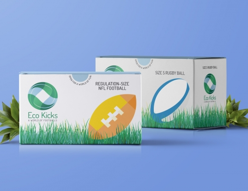 Eco Kicks NFL Football and Rugby Ball Boxes