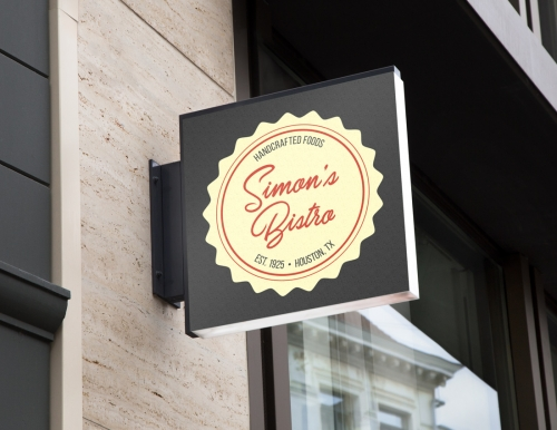 Outdoor sign for Simon's Bistro